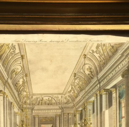 Smith, George: 'State Drawing Room' design print, Neoclassical interior 1808 -23385