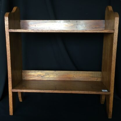 Arts & Crafts oak shelves, peg joining, c.1900 -24085