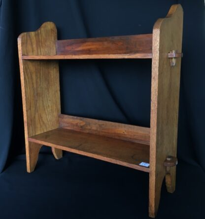 Arts & Crafts oak shelves, peg joining, c.1900 -0