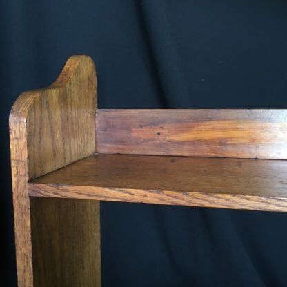 Arts & Crafts oak shelves, peg joining, c.1900 -24088