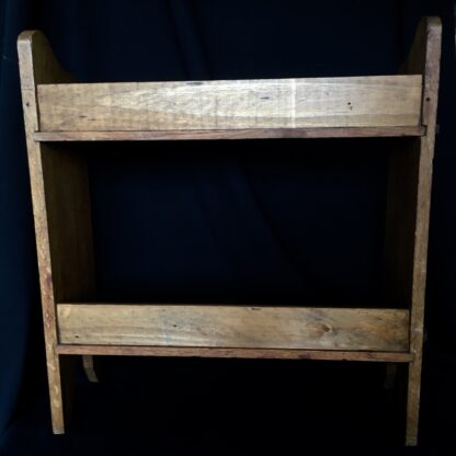 Arts & Crafts oak shelves, peg joining, c.1900 -24089