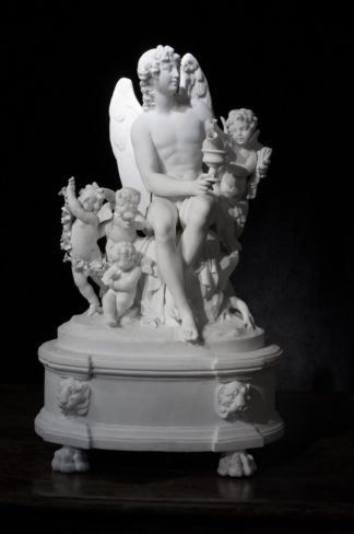 Bisque figure group, 'Astraeus & the Anemoi', by Dihl et Guérhard, Paris, c.1790 -0
