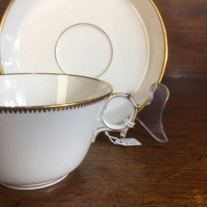 Napoleon III cup & saucer, Gilt 'N', dated 1876 -24292