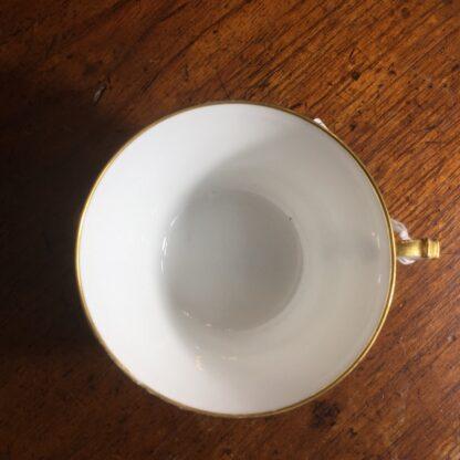 Napoleon III cup & saucer, Gilt 'N', dated 1876 -24294