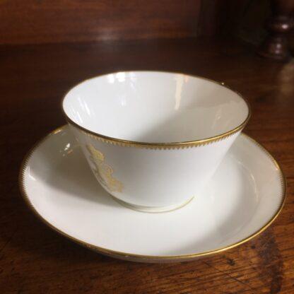 Napoleon III cup & saucer, Gilt 'N', dated 1876 -24295