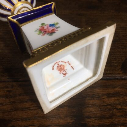 Royal Crown Derby porcelain hand painted urn, scenic panel, 1905 -24347