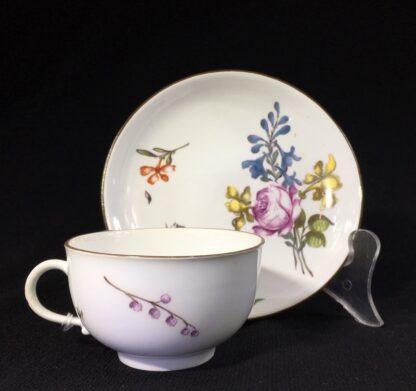 Meissen cup & saucer, deutschblumen flowers, c. 1740-25557