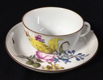 Meissen cup & saucer, deutschblumen flowers, c. 1740-25556