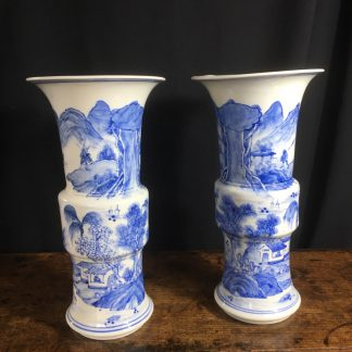 Pair of Chinese porcelain vases, 19th century-0