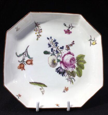 Meissen octagonal dish, deutschblumen flower groups, c. 1740-25546