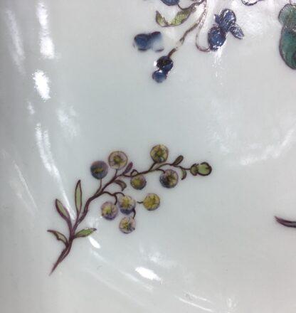 Meissen octagonal dish, deutschblumen flower groups, c. 1740-25551