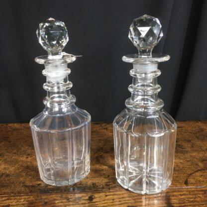 Pair of late Georgian decanters, C. 1830 -0