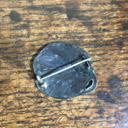 Arts & Crafts bronze brooch, leaf form, c. 1920-24605