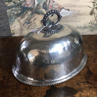 Small plated meat cover, James Dixon & Sons Sheffield c.1880-0