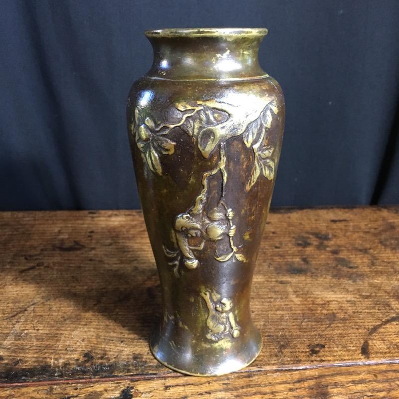 Japanese Bronze Vase C1900 Moorabool Antiques Galleries