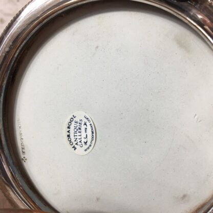 Wedgwood Blue Jasper biscuit barrel with plated mount, c.1880-24208