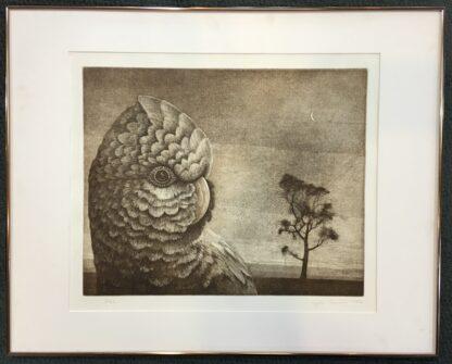 Vytas Serelis Etching - New Moon Galah - 2/36, signed & dated 1982-24512