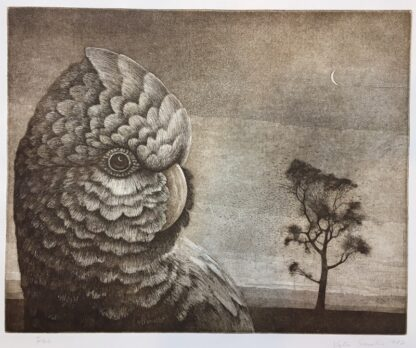 Vytas Serelis Etching - New Moon Galah - 2/36, signed & dated 1982-0