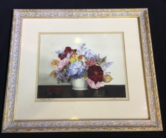 Helen Wood, watercolour, 'Gay Bowl' still life, mid 20th century-0