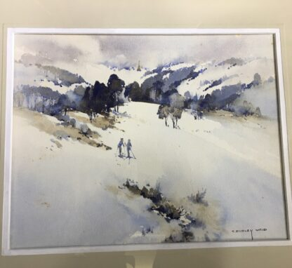 "Clifford Dudley Wood, watercolour, ""Snow Fall"" c. 1965-24501"