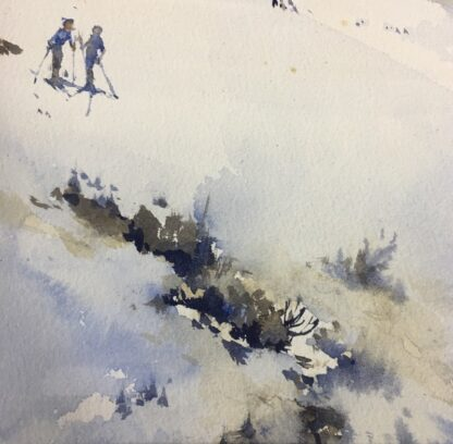 "Clifford Dudley Wood, watercolour, ""Snow Fall"" c. 1965-24505"