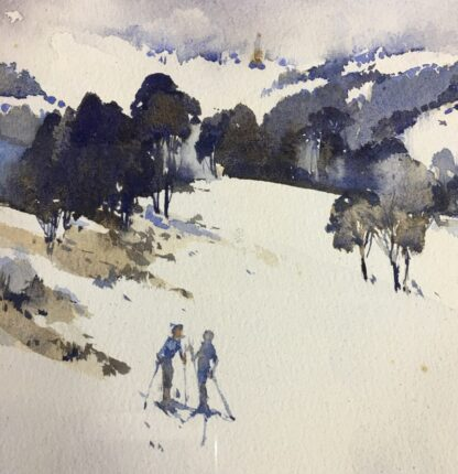 "Clifford Dudley Wood, watercolour, ""Snow Fall"" c. 1965-24502"