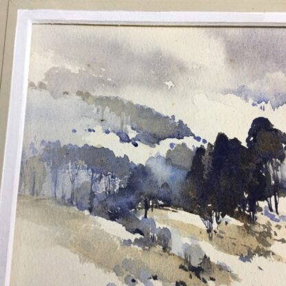 "Clifford Dudley Wood, watercolour, ""Snow Fall"" c. 1965-24503"