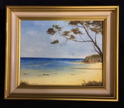 Phyl Yorston, oil painting 'The front beach at Point Lonsdale' late 20th century -0