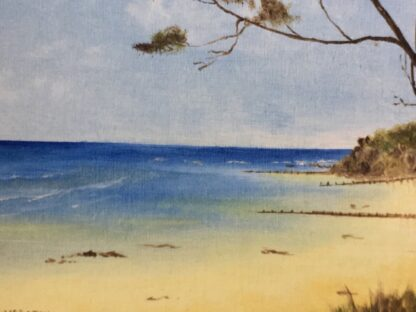 Phyl Yorston, oil painting 'The front beach at Point Lonsdale' late 20th century -24533