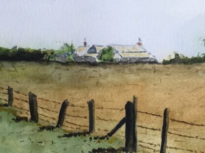 Ken Ellis watercolour, 'Farmhouse on the hill', signed -24525