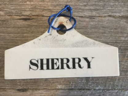 Creamware wine bin label, SHERRY , C. 1800 -0