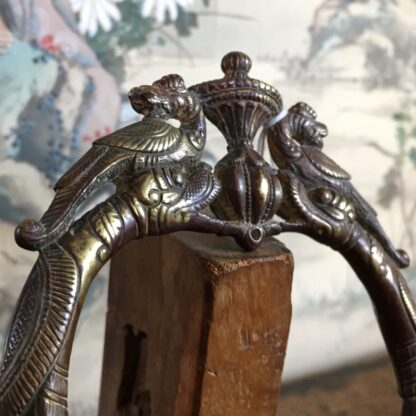 Indian Bronze bracelet with parrots & beasts, Punjab 19th century-24657