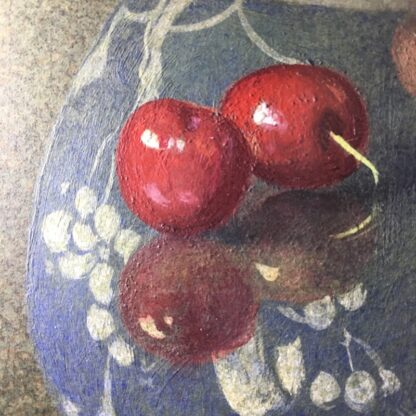 Dennis Ramsay, Oil Tempera, Still Life with Chinese Jar, Cherries & Apples, 1992-24729