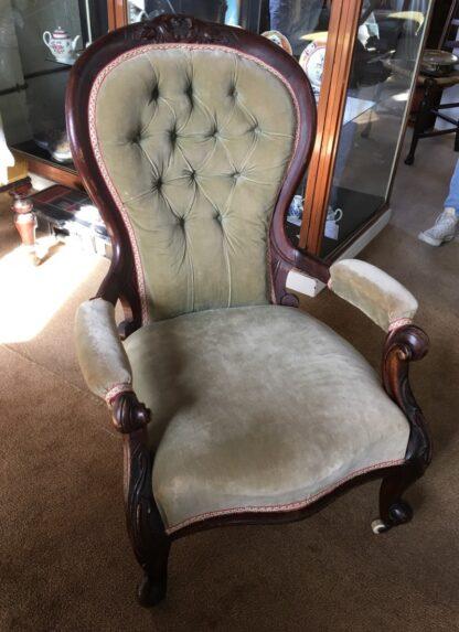 Victorian Cedar Gents chair, c. 1875 -0