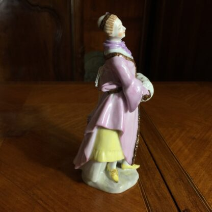 Vienna porcelain figure of an ice skater, 20th century -25668