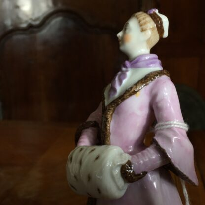Vienna porcelain figure of an ice skater, 20th century -25673