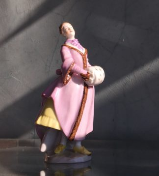 Vienna porcelain figure of an ice skater, 20th century -0