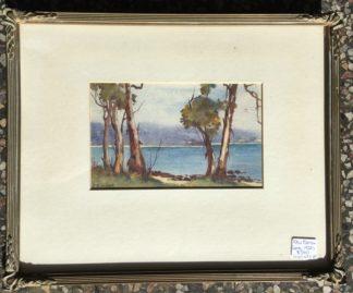 Elsie Barlone (1877-1948) watercolour, Lorne coastal scene, c.1920-0
