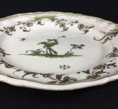 French Faience plate, Chinoiserie bird, Moustiers, c.1750-26318