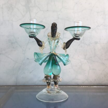 Murano Glass 'blackamoor' candlestick figure, mid 20th century-25812