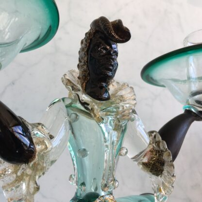 Murano Glass 'blackamoor' candlestick figure, mid 20th century-25811