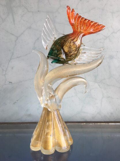 Murano Glass 'tropical fish' sculpture, mid 20th century-25785