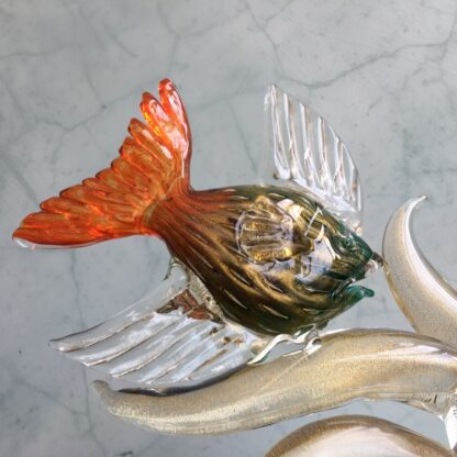 Murano Glass 'tropical fish' sculpture, mid 20th century-25784