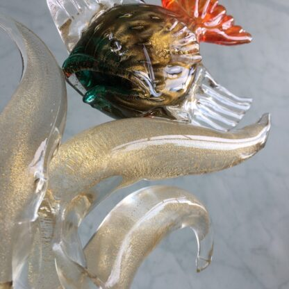 Murano Glass 'tropical fish' sculpture, mid 20th century-25786