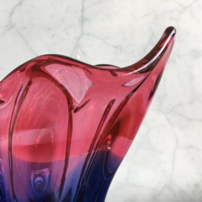 Murano Glass vase, red & blue, mid 20th century -25828
