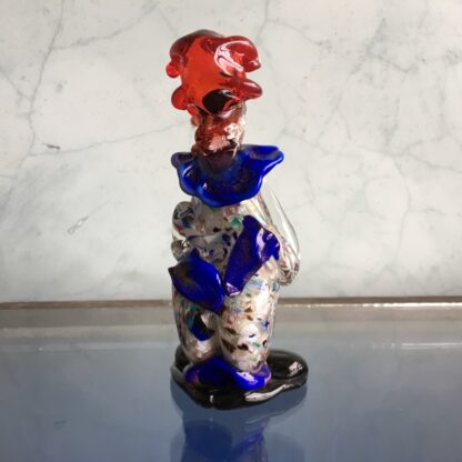 Murano Glass clown, multicolour coat, mid 20th century -25849