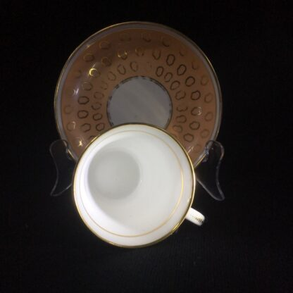 Chamberlains cup & saucer, fawn & gold pattern, C. 1815 -25299