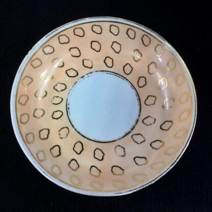 Chamberlains cup & saucer, fawn & gold dec, C. 1815 -25294