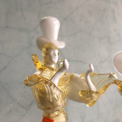 Pair of large Murano Glass figures in white, mid 20th century-25894