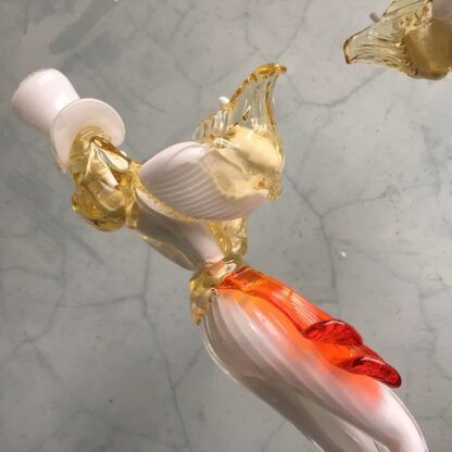 Pair of large Murano Glass figures in white, mid 20th century-25900